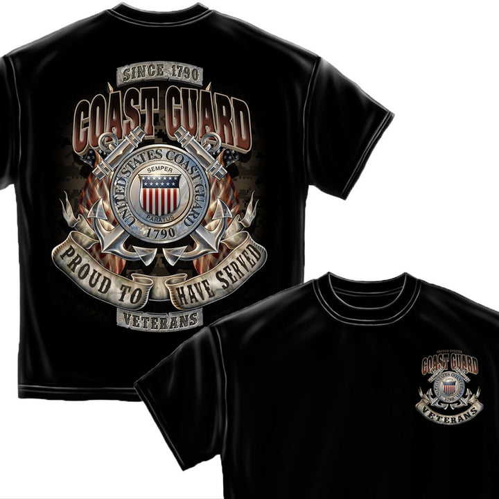 Coast Guard Veteran T-Shirt-Military Republic