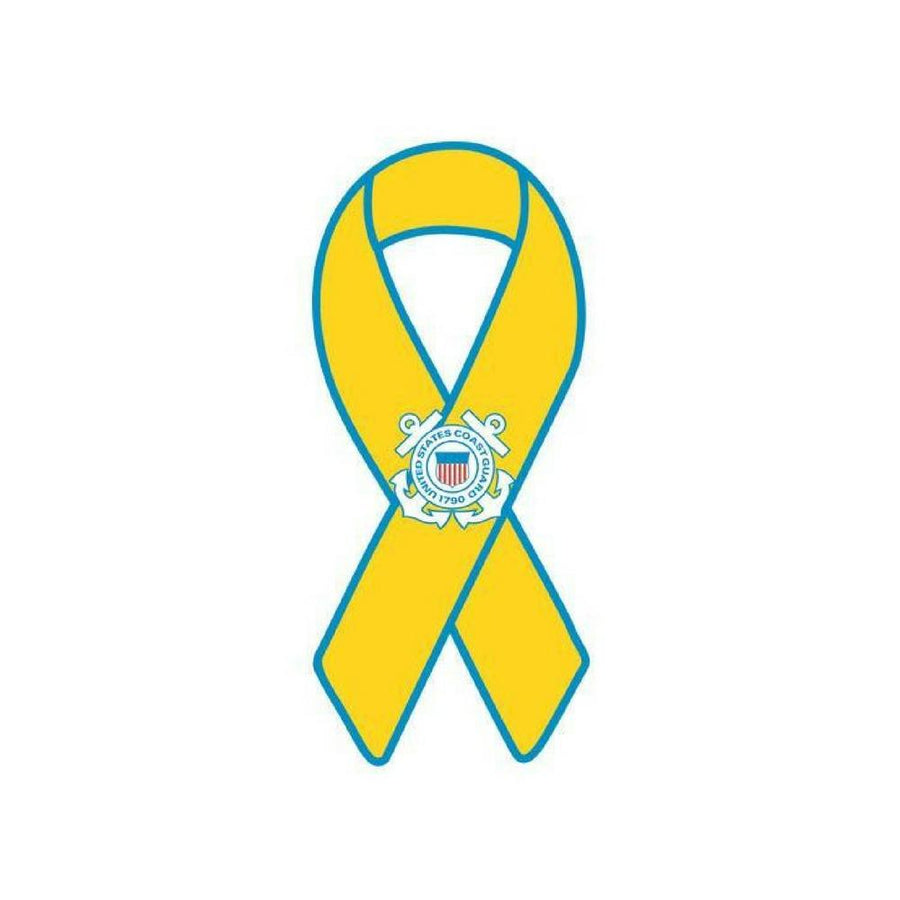 Coast Guard Yellow Ribbon Ribbon Magnet-Military Republic