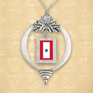 Custom Blue Star Christmas Ornament-Military Republic