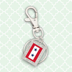 Custom Blue Star Key-chain-Military Republic