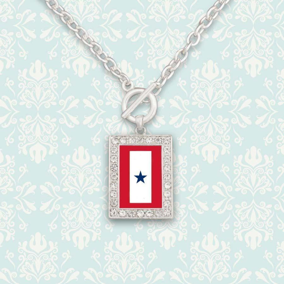 Custom Blue Star Necklace-Military Republic