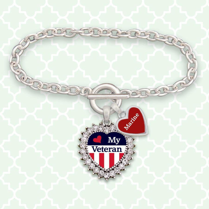 Custom Branch Love my Veteran Bracelet-Military Republic