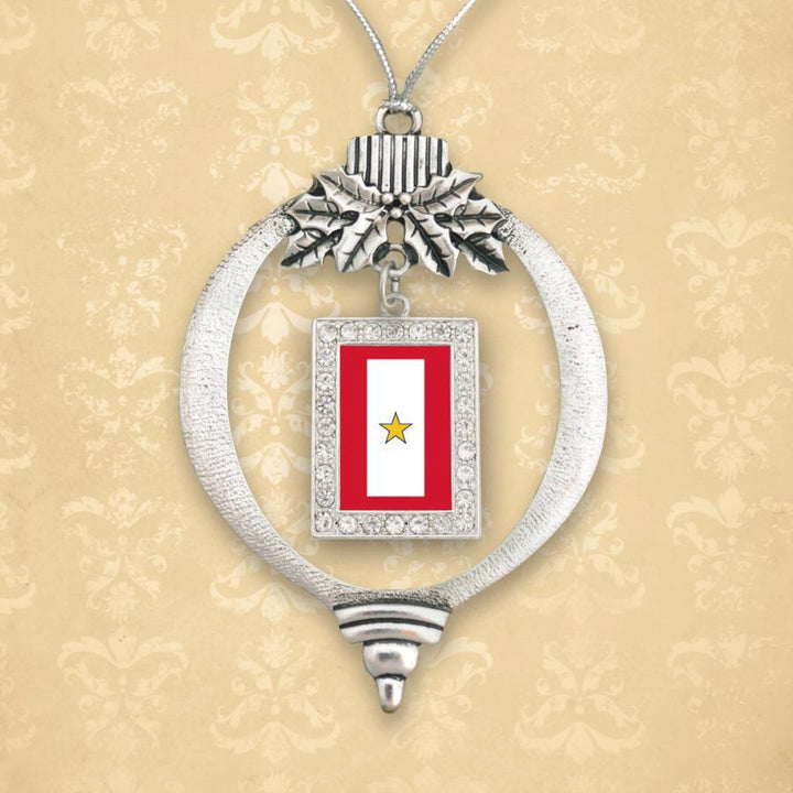 Custom Gold Star Christmas Ornament-Military Republic