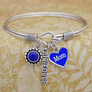 Custom Loved one Air Force 3 Charm Bangle-Military Republic