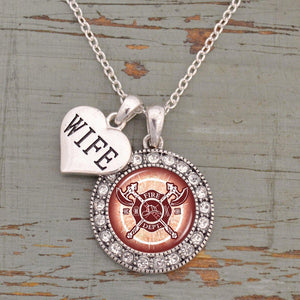 Custom Loved one Firefighter Artisan Necklace-Military Republic