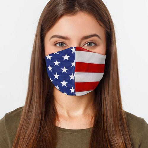 American Flag Stars and Stripes Face Cover