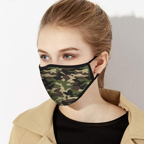 Camouflage Pattern Face Mask - Made in USA - 2 Sizes