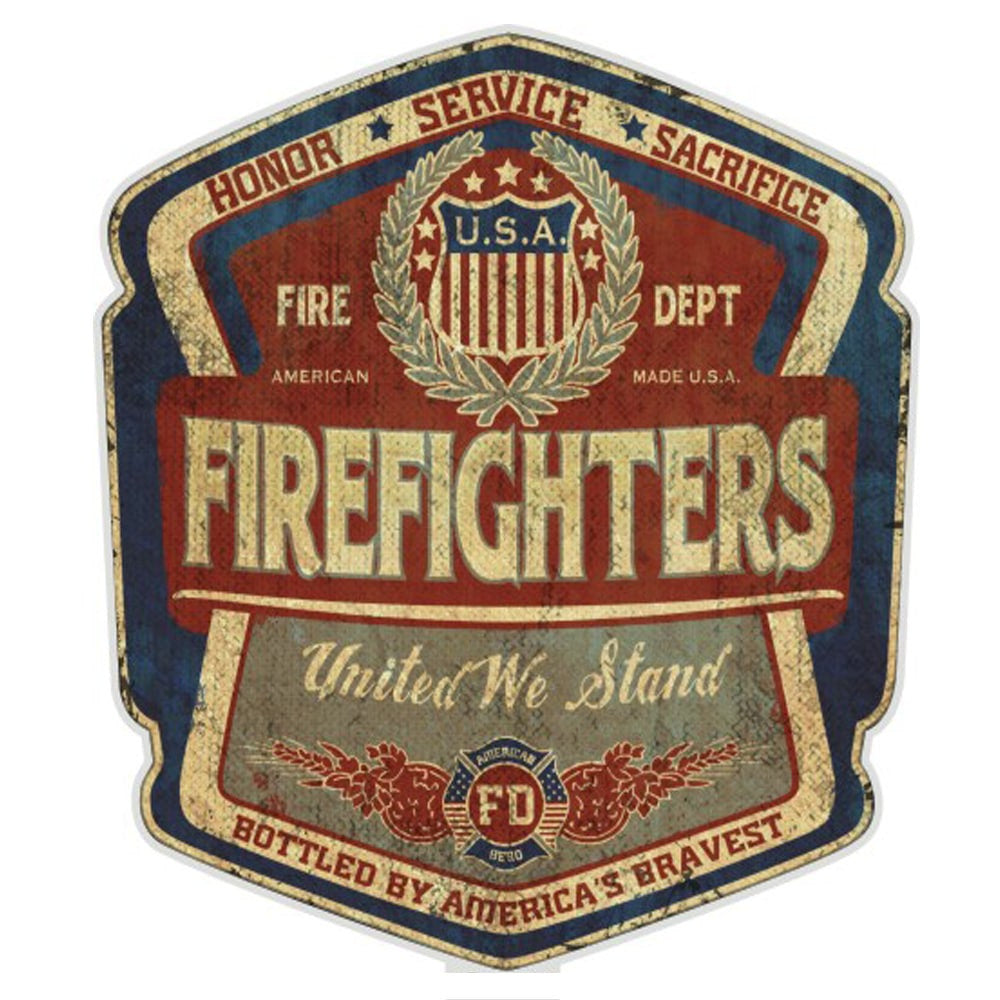 Denim Fade Firefighter Badge Decal-Claris Deals