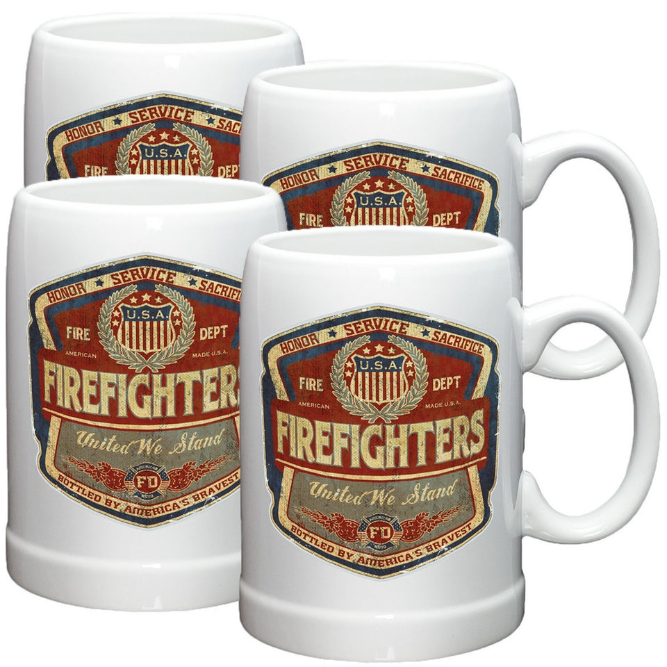 Denim Fade Firefighter Stoneware Mug Set-Military Republic