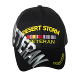 Operation Desert Storm Veteran Hat with Large Font VETERAN Embroidery on Side