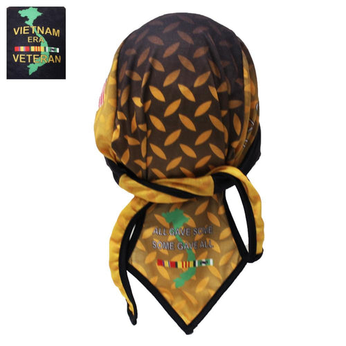 Diamond Plate Design Vietnam Veteran Headwrap