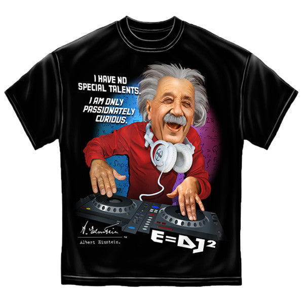 DJ Einstein Black T-Shirt-Military Republic