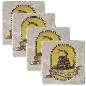 Don't Tread On Me Coaster-Military Republic