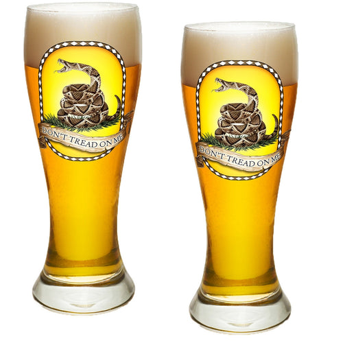 Don't Tread On Me Pilsner Glass Set-Military Republic