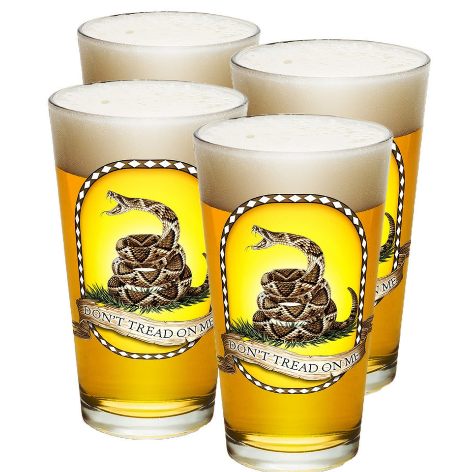 Don't Tread On Me Pint Glasses-Military Republic