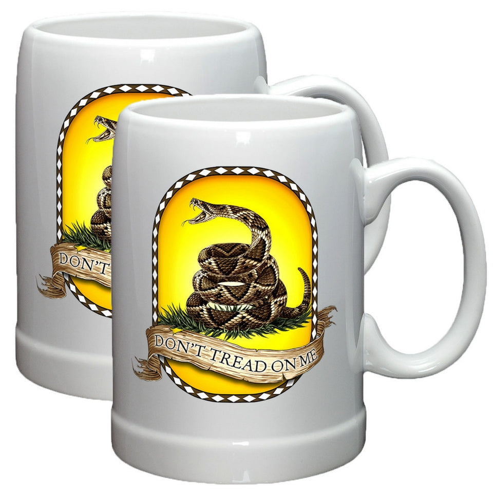 Don't Tread On Me Stoneware Mug Set-Military Republic