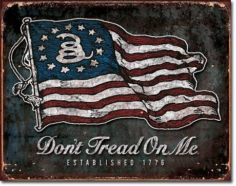 """Don't Tread On Me"" Tin Sign-Military Republic"