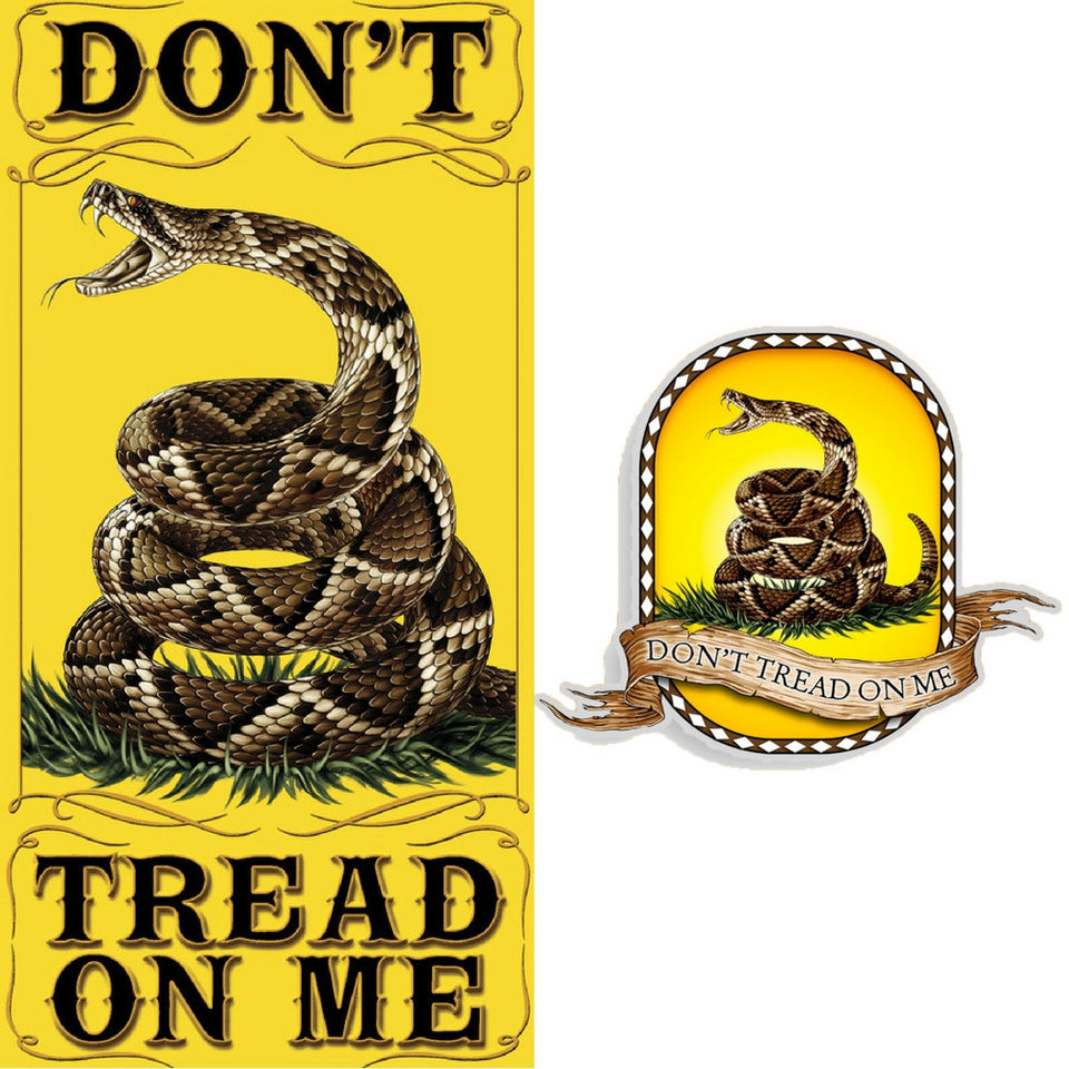 Don't Tread On Me Towel And Free Decal-Military Republic