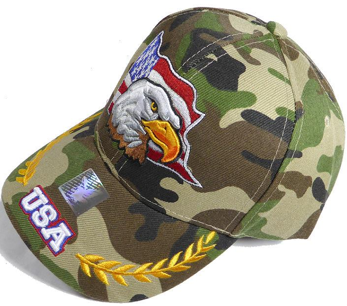 Eagle Baseball Cap - Camo-Military Republic