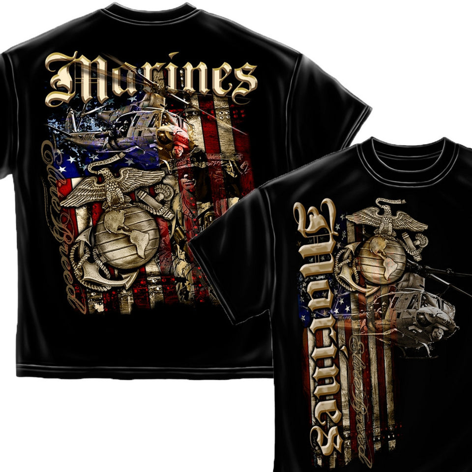 Elite Breed USMC Aerial Assault T-Shirt-Military Republic