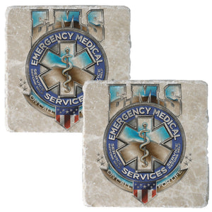 EMS Badge Of Honor Coaster-Military Republic