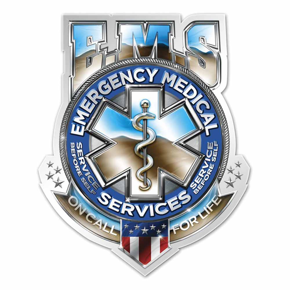 EMS Badge of Honor Decal