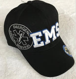 EMS Logo Shadow Cap with Bold Embroidery of EMS - Solid Black