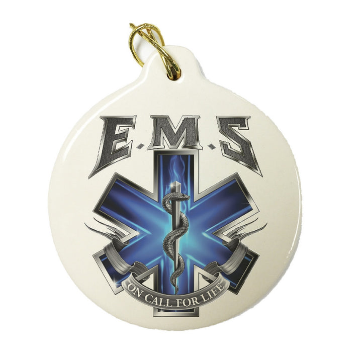 EMS On Call For Life Christmas Ornament-Military Republic
