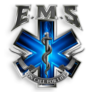 EMS - On Call For Life Decal-Military Republic
