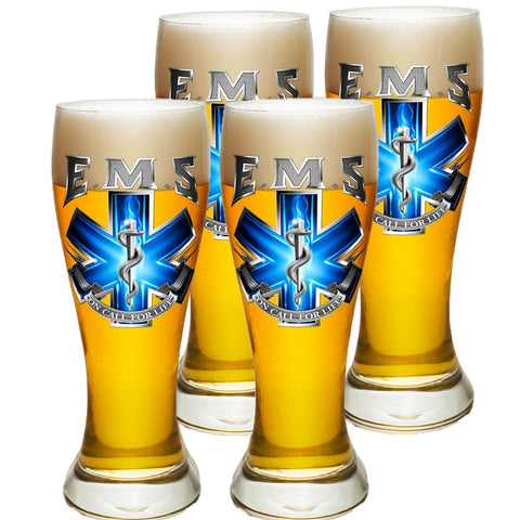 EMS On Call For Life Pilsner Glass Set-Military Republic