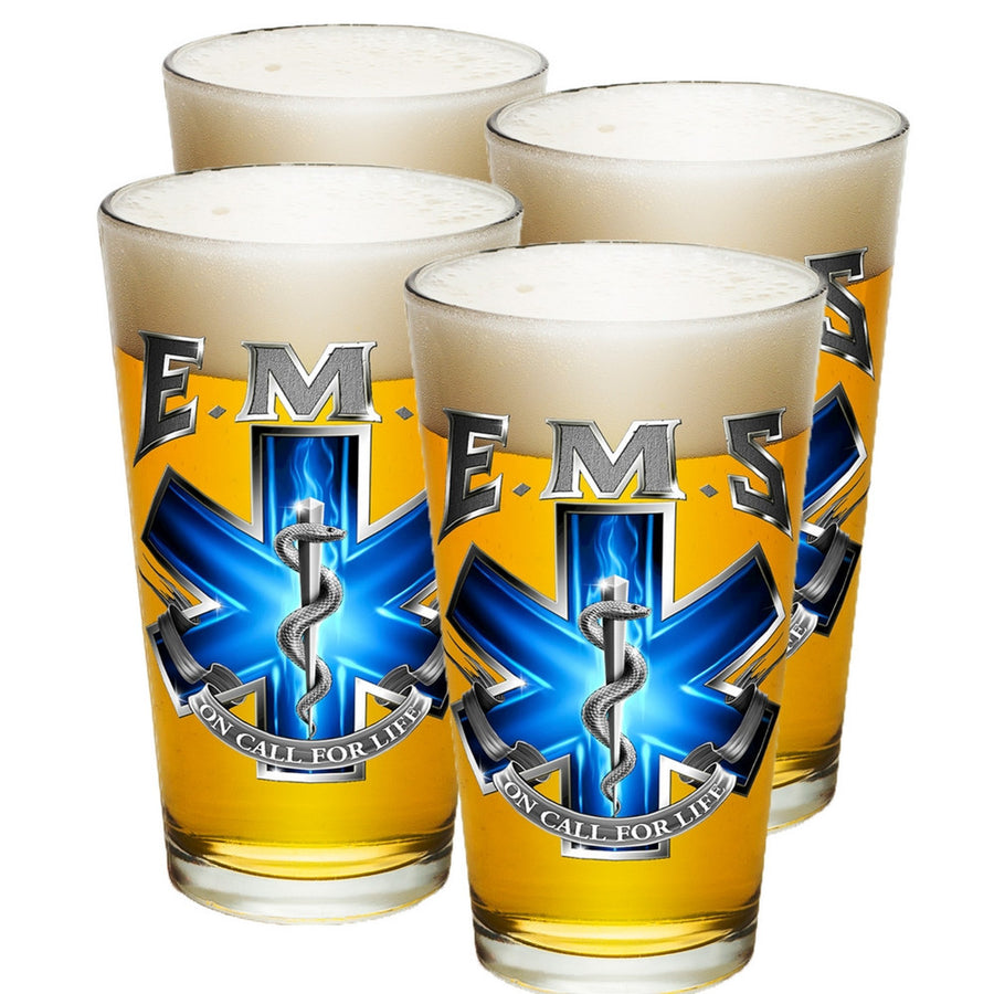 EMS On Call For Life Pint Glasses-Military Republic