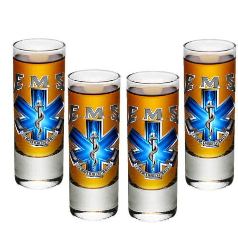 EMS On Call For Life Shot Glasses-Military Republic