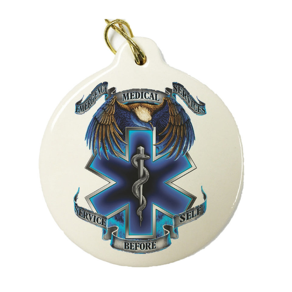EMS Service Before Self Christmas Ornament-Military Republic