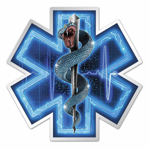EMS - Silver Snake Decal