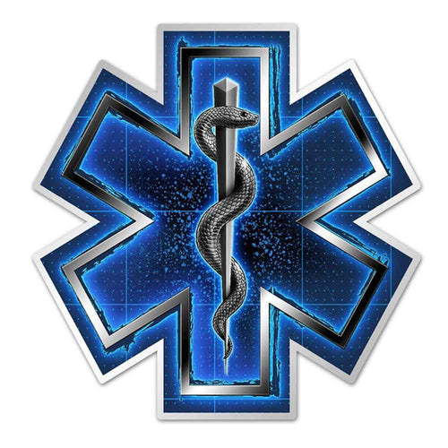 EMS Silver Snake On Call Decal
