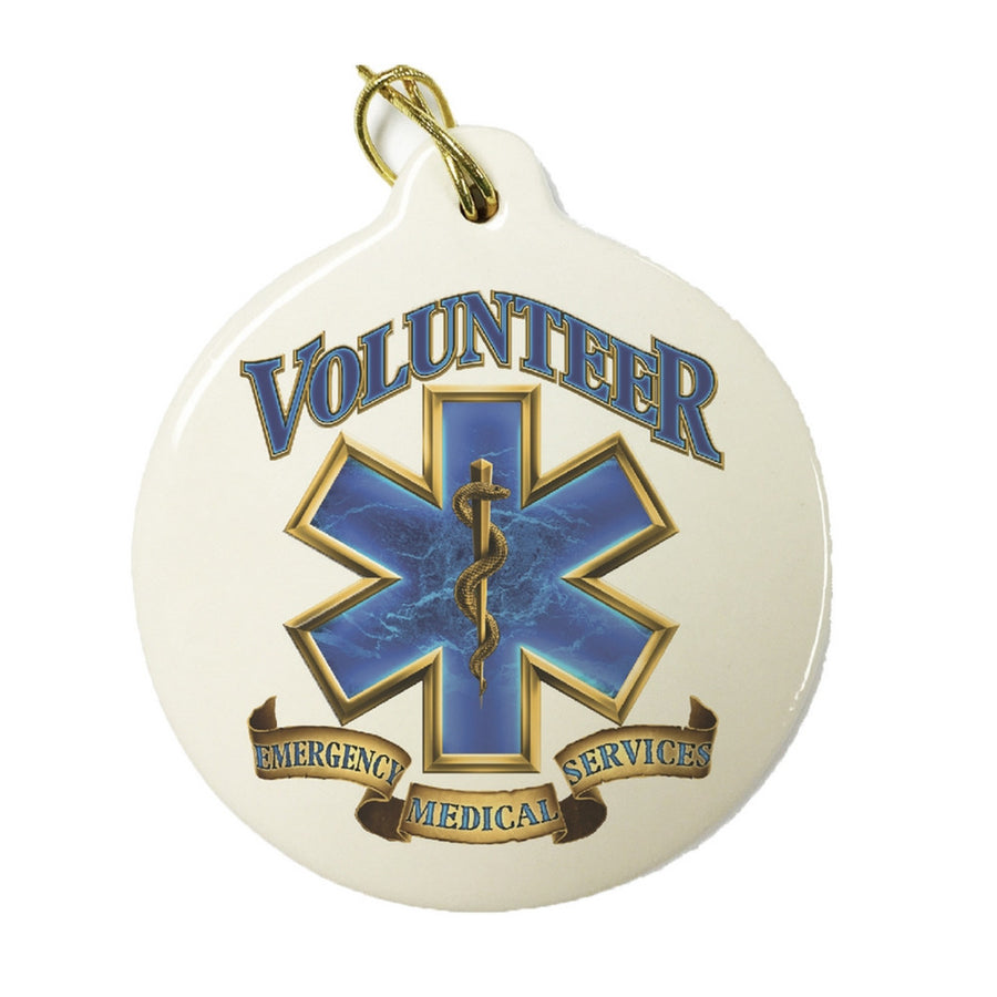 EMS Volunteer Christmas Ornament-Military Republic