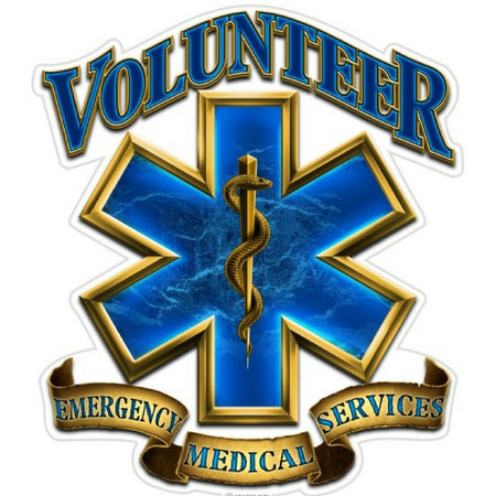 EMS Volunteer Decal-Military Republic