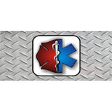EMT And Firefighter Diamond Photo License Plate