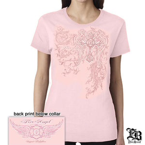 Fire Angel Pink Elite Breed Firefighters T Shirt-Military Republic