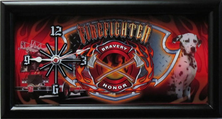 Fire Department License Plate Clock