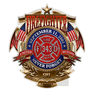 Fire Department Never Forget Firefighter Decal-Military Republic