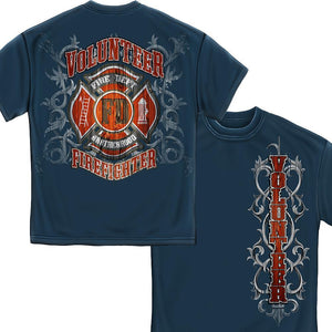 Fire Dept Faded Plank T Shirt-Military Republic