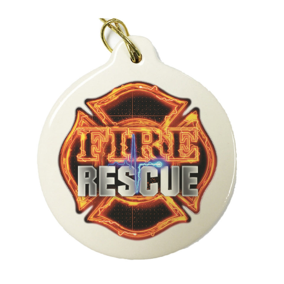 Fire Rescue Christmas Ornament-Military Republic