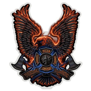 Fire Rescue Eagle Decal-Military Republic