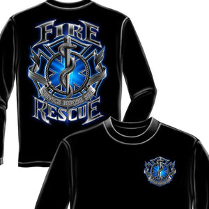 Fire Rescue Firefighter Long Sleeve Shirt-Military Republic