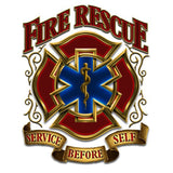 Fire Rescue Service Before Self Decal-Military Republic