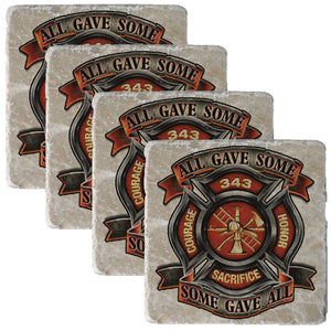 Firefighter 343 All Gave Some Coaster-Military Republic