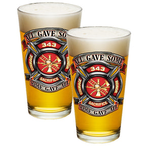 Firefighter 343 All Gave Some Pint Glasses-Military Republic