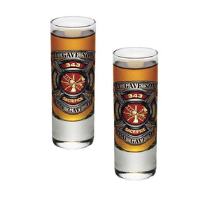 Firefighter 343 All Gave Some Shot Glasses-Military Republic