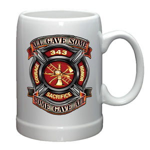 Firefighter 343 All Gave Some Stoneware Mug Set-Military Republic